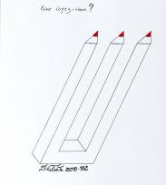 Etude Fleur de Vie - feutre sur papier - 20x20 cm - Sandra Valente, artiste peintre SV:2017-179 - Dessin disponible en vente