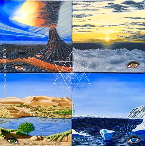 Les 4 Eléments peinture de Sandra Valente